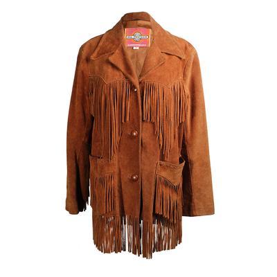 Ms Pioneer Size 14 Fringe Suede Jacket