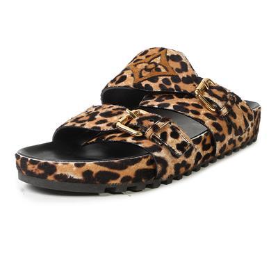 Louis Vuitton Size 39 Leopard Print Pony Hair Sandal