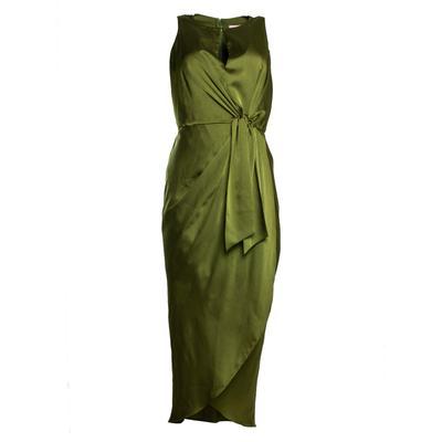 Ted Baker Size Small Green Keyhole Midi Dress