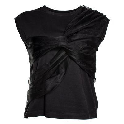 MSGM Size Medium Black Mesh Top