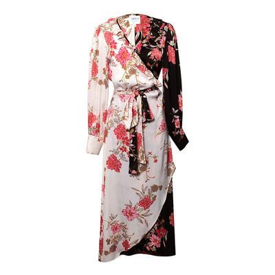 MISA Size Large B&W Pattern Dress