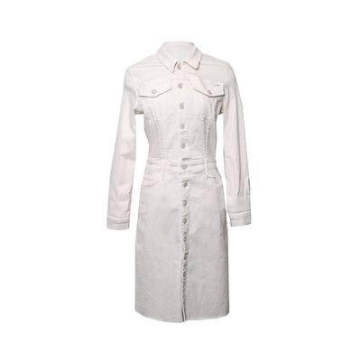 Mother Size Medium White Denim Dress