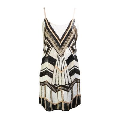 Alice + Olivia Size 6 Sequin Mini Dress