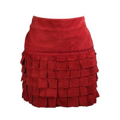 Roberto Cavalli Size 40 Suede Mini Skirt