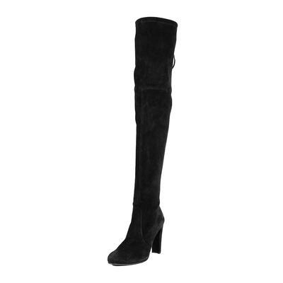 Stuart Weitzman Size 10 Black Highland Boots