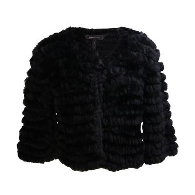 BCBG Size Small Rabbit Fur Jacket