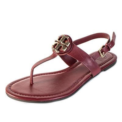 Tory Burch Size 8 Burgundy Sandals