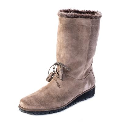 Stuart Weitzman Size 9 Grey Suede Boots