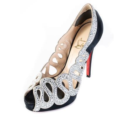 Christian Louboutin Size 7.5 Silver Studded Heel