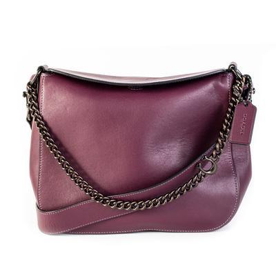 Coach Purple Leather Chain Crossbody bag