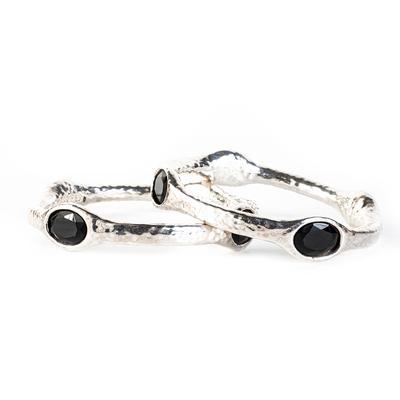 Simon Sebbag Onyx Bracelet Set of 2
