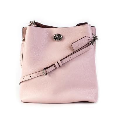 Coach Pink Leather Turn Lock Handbag