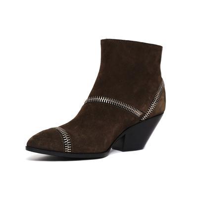 Giuseppe Zanotti Size 36.5 Zipper Detail Ankle Boots