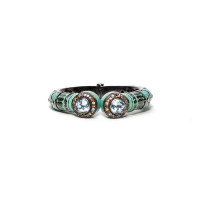 MCL Sterling Silver Blue Topaz Sapphire Hinge Bracelet