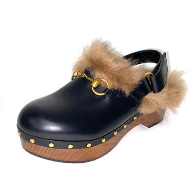 Gucci Size 36.5 Fur Clogs