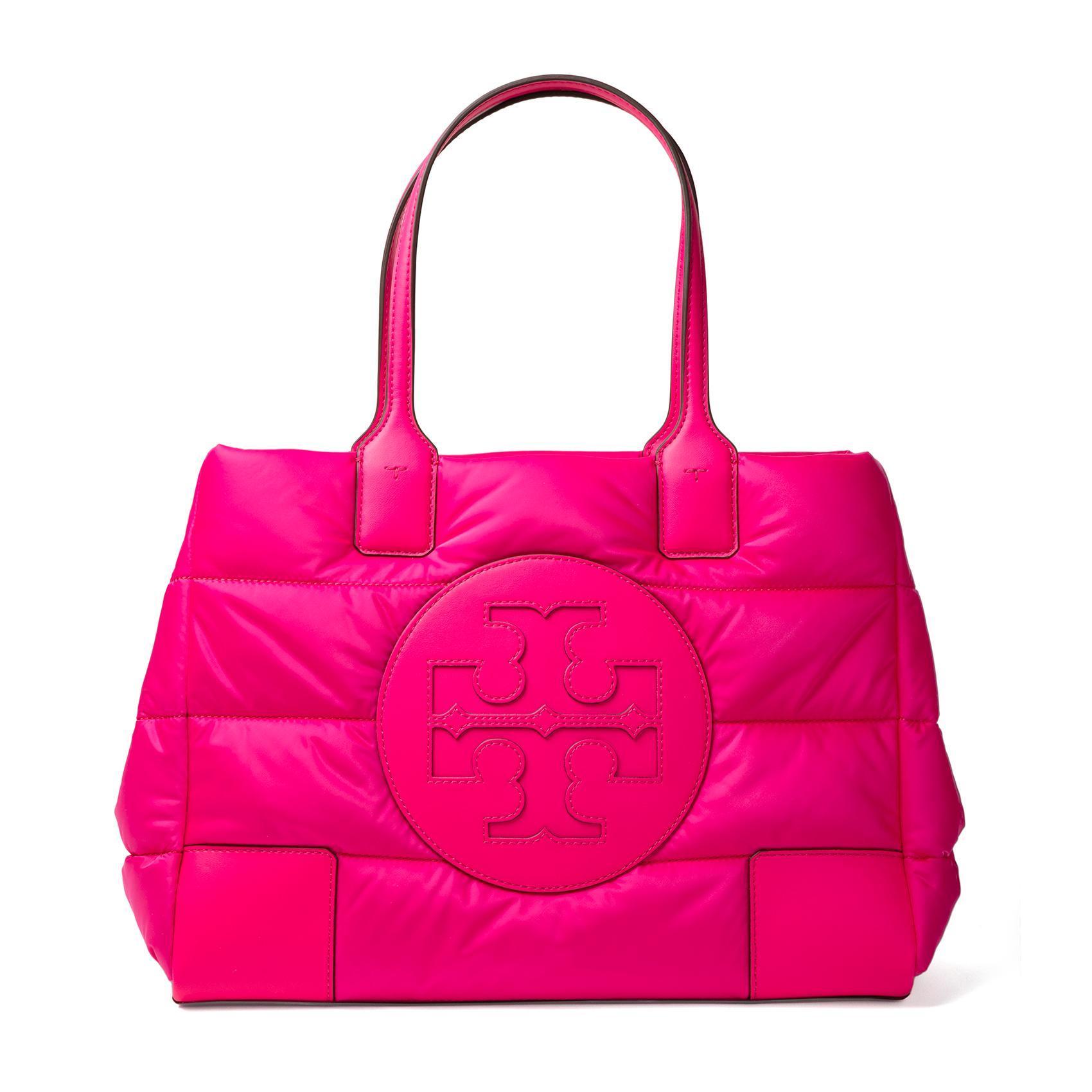 Tory Burch Pink Husky Ella Tote
