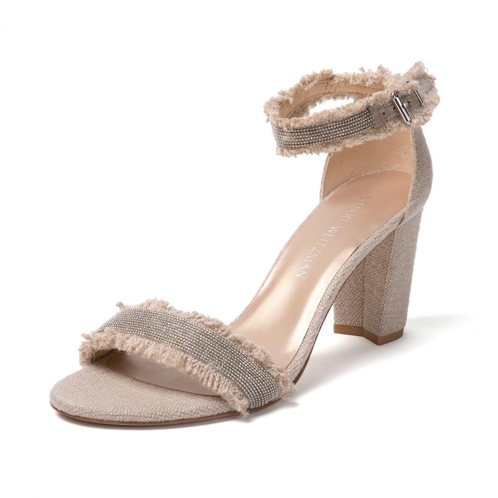 Stuart Weitzman Size 8.5 Chain Trim Sandals