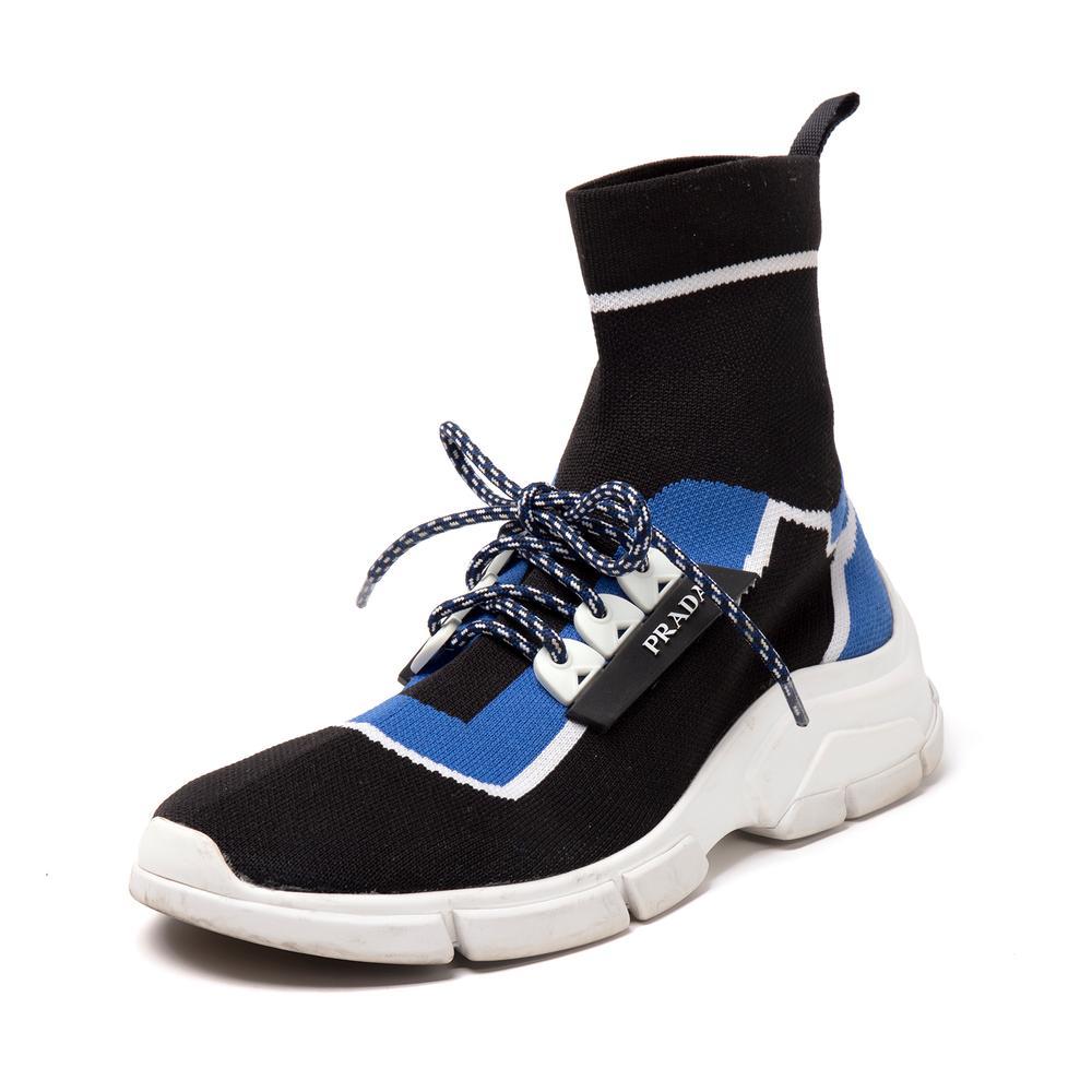 Prada Size 37 Knit Sock Sneakers