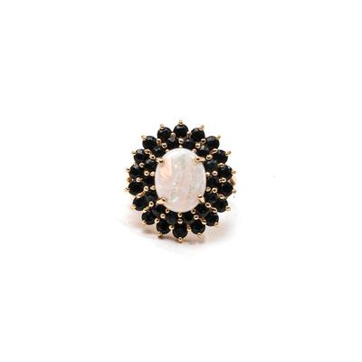 Size 7 14K Sapphire & Opal Ring