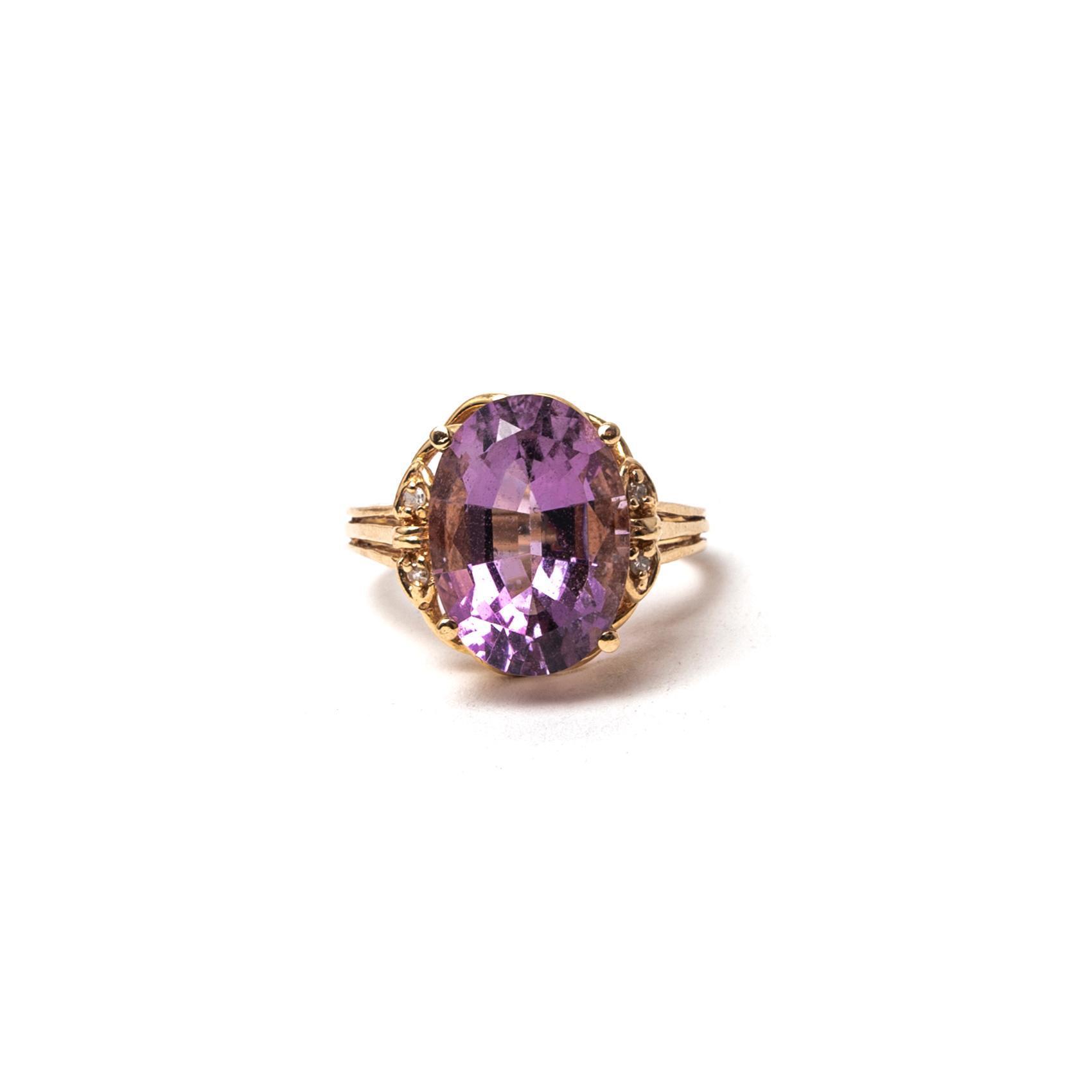 14k Size 7 Amethyst Ring
