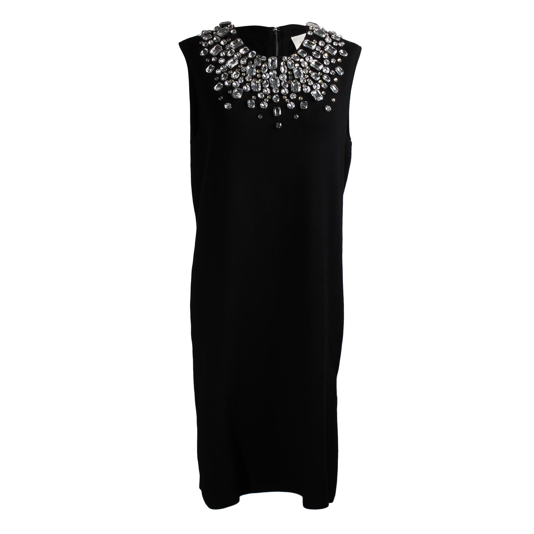 Kate Spade Size Large Black Jeweled Collar Dress