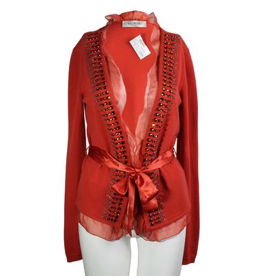 Valentino Size Small Beaded Cardigan
