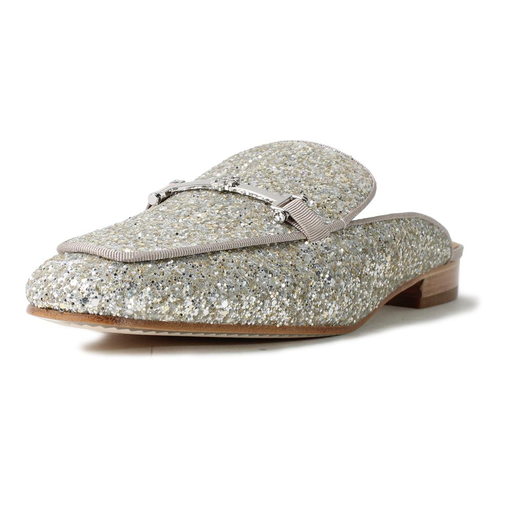 Tory Burch Size 9 Glitter Amelia Loafer Mules
