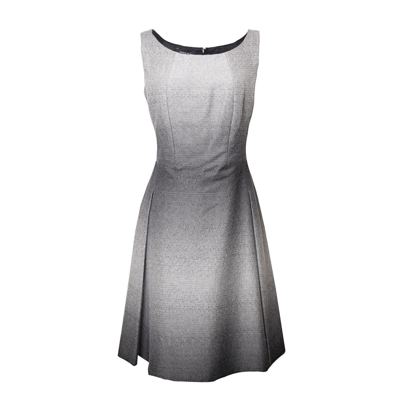 Lafayette 148 Size 8 Grey Ombre Dress