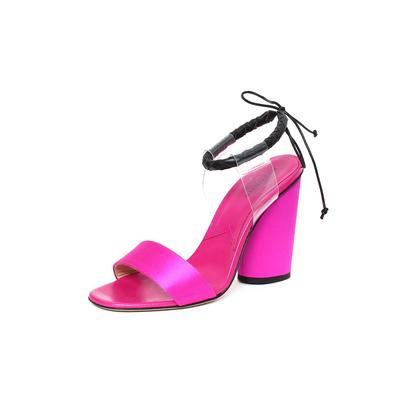 Paul Andrew Size 37 Satin Pink Heel