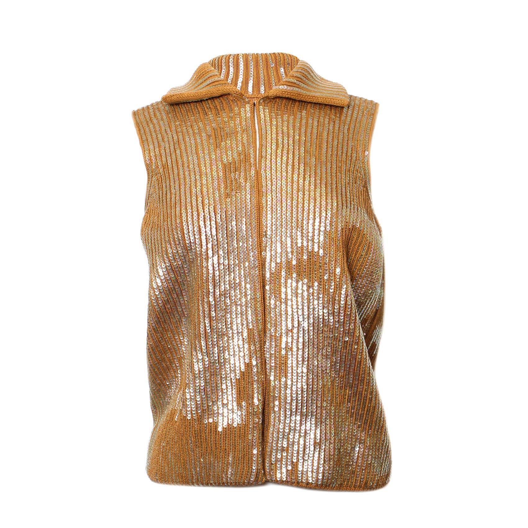 Isabel Marant Size Small Sequin Crochet Vest