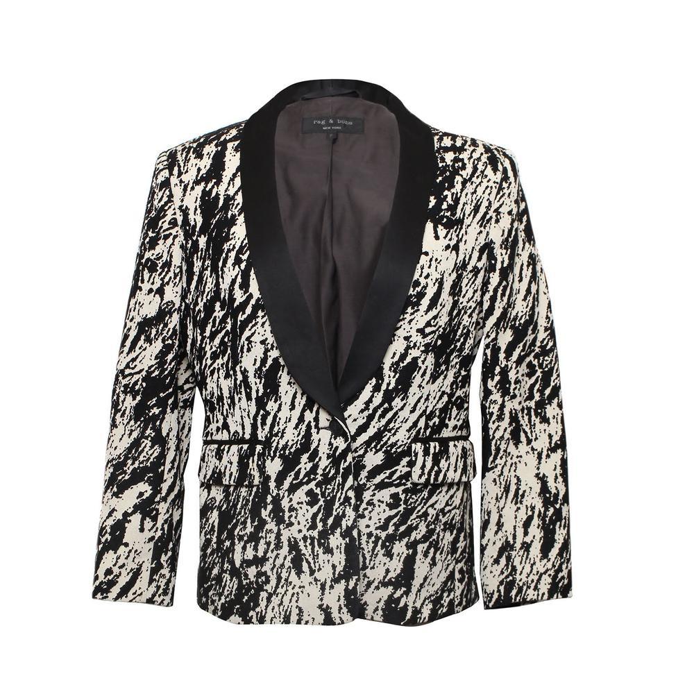 Rag & Bone Size 6 Abstract Woven Blazer