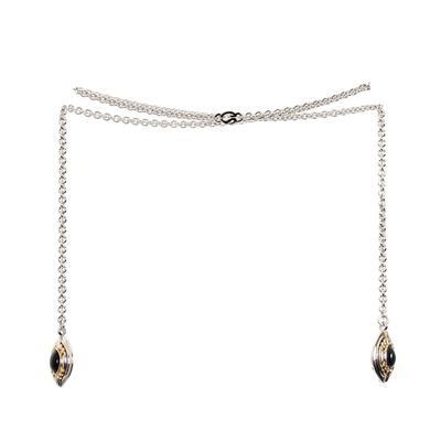 St. John Silver & Gold Wrap Necklace