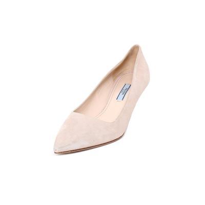 Prada Size 8.5 Suede Kitten Heels
