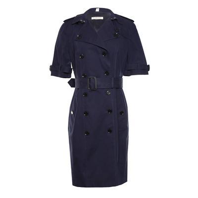 Burberry London Size 6 Belted Navy Dress