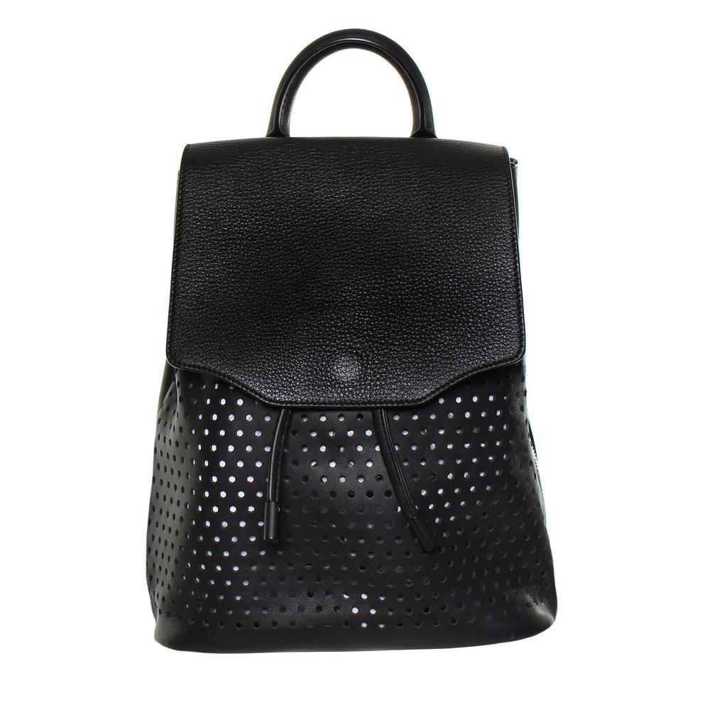 Rag & Bone Black Perforated Leather Backpack