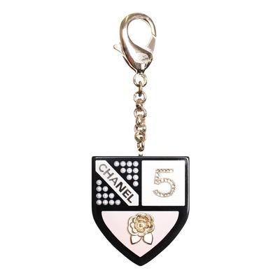 Chanel No. 5 Crest Shield Keychain