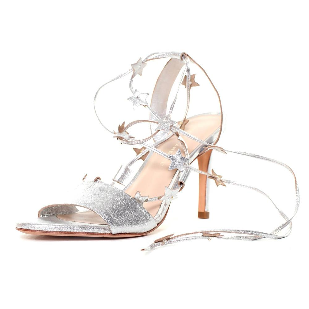 Loeffler Randall Size 7.5 Arielle Star Lace Up Heels