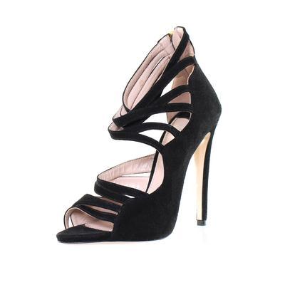 Miu Miu Size 38 Strappy Peep Toe Heels