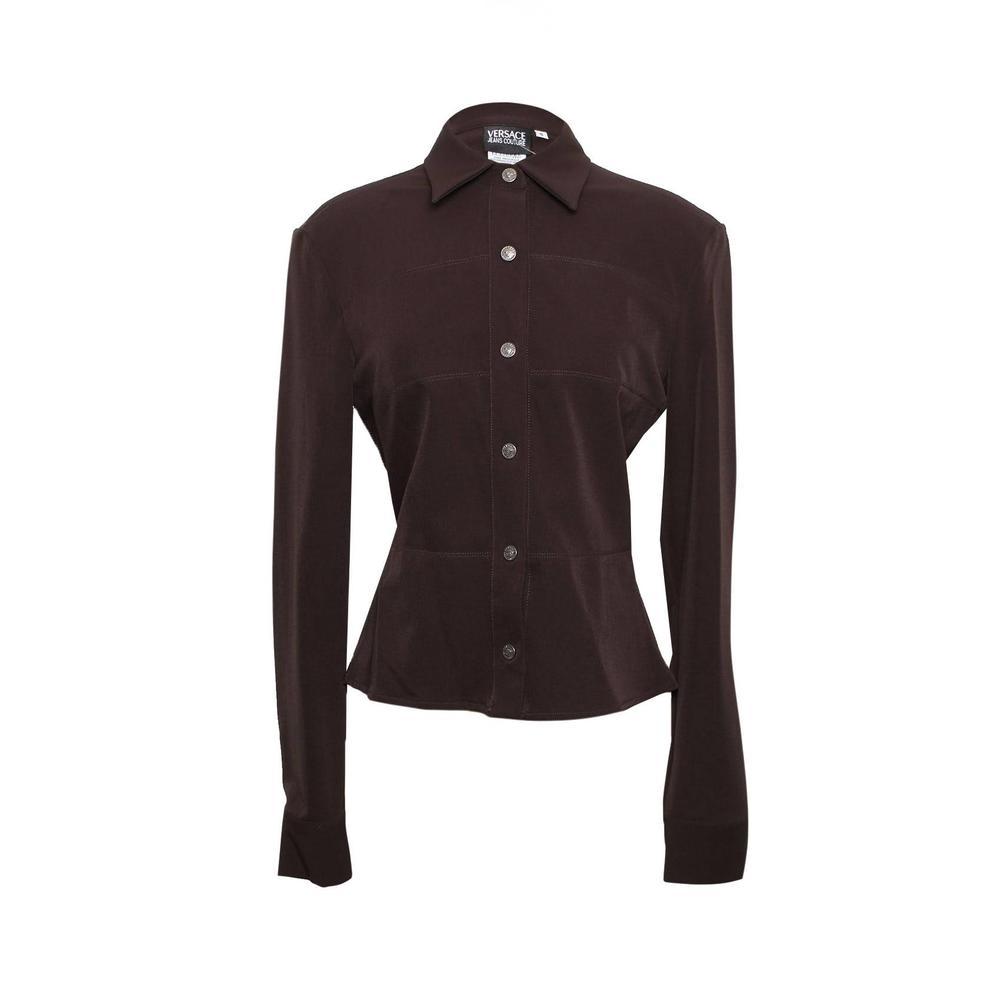 Versace Jeans Couture Size Xs Snap Button Blouse