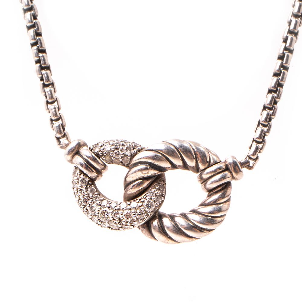 David Yurman Belmont Diamond Cable Necklace