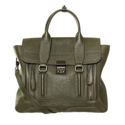 Philip Lim Green Large Leather Satchel