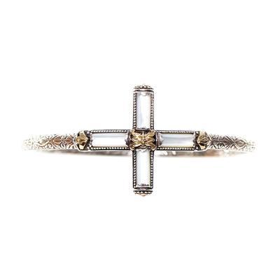Konstantino Sterling Silver Cross Pearl Bracelet