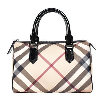 Burberry Tan Nova Check Boston Handbag
