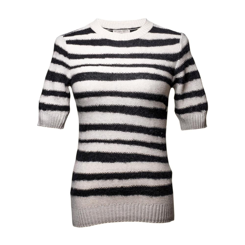 Bottega Veneta Size 38 Wavy Wool Striped Sweater