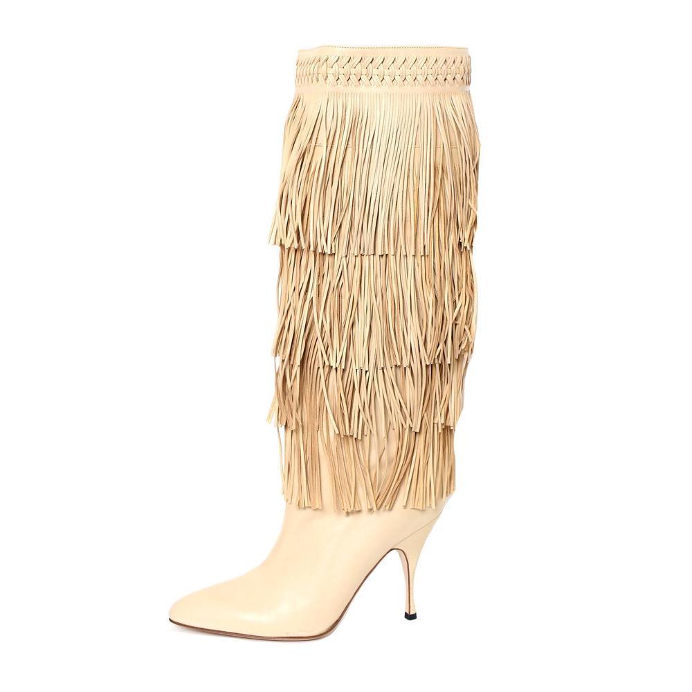 Brian Atwood Size 38.5 Fringe Boot