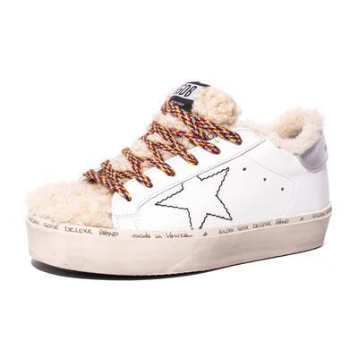 Golden Goose Size 37 Shearling Hi-Star Sneakers