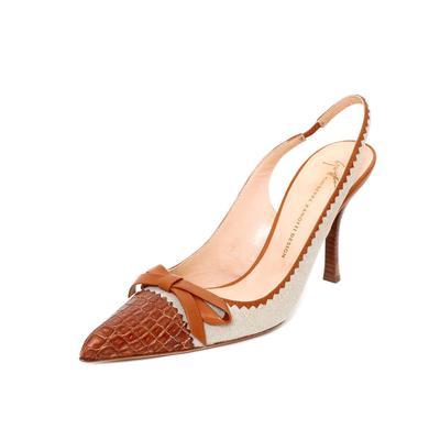 Giuseppe Zanotti Size 38.5 Bow Sling Back Heel