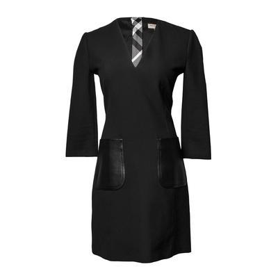 Burberry Size 6 Leather Pocket Dress