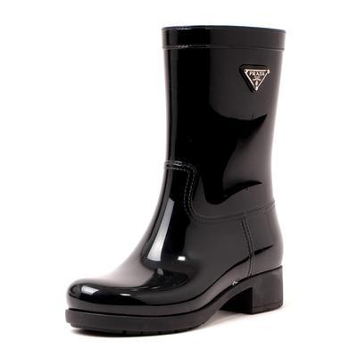 Prada Size 36 Mid Calf Rain Boots