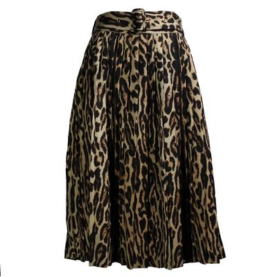 Burberry Size 12 Leopard Print Skirt